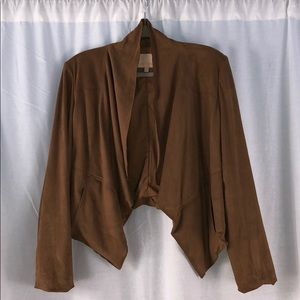 Gibson Latimer Brown Suede cropped jacket